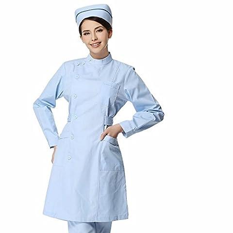 Xuanku Infirmières, Infirmières, Manches Courtes, L'Hiver Des Manches Longues, Des Médecins, Des Vêtements, Des Blouses Blanches, Des Vêtements De Laboratoire Médical,Xxl,Bleu