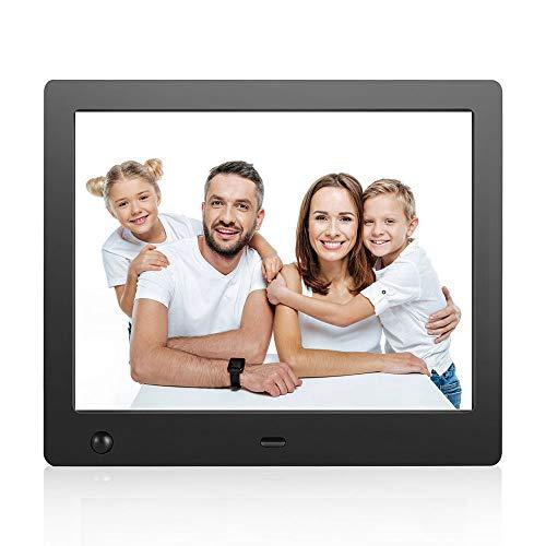Digitaler Bilderrahmen 8 Zoll 1024x768 Auflösung Full IPS Foto/Musik/HD-Video(1080P) Kalender Alarm Auto On/Off Timer mit Bewegungs-Sensor/New Version Fernbedienung (8-Zoll)