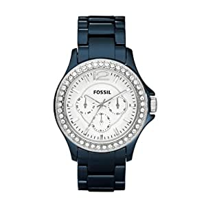 Fossil Damen-Armbanduhr Riley Multifunktion Analog Quarz Keramik CE1045