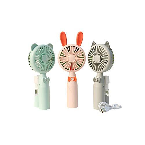 dizon Spray Fan Outdoor Tragbare Sommer Cool Handheld Mobile Klimaanlage Fan Bär Cyan -
