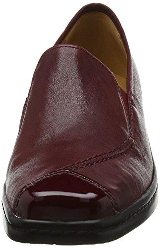 Gabor Shoes Comfort Basic, Derby Femme Rouge (28 Dark-red)