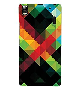 ColourCraft Colourful Pattern Design Back Case Cover for LENOVO A7000