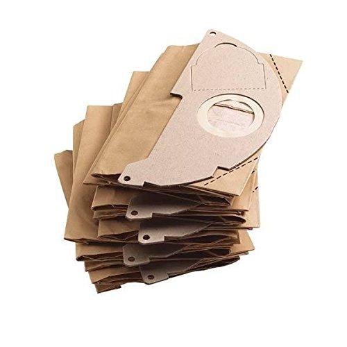 Kärcher 69043220 sacchetto filtro in carta per aspiratori wd 2 (mv 2), set di 5 pezzi