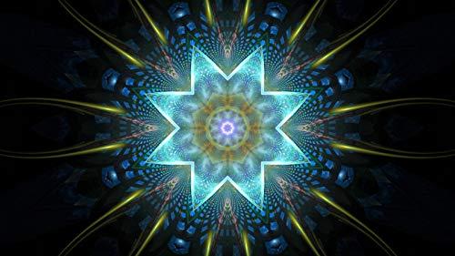 Rompecabezas 1500 Piezas Adultos De Madera Niño Puzzle-Mandala Azul-Juego Casual De Arte Diy Juguetes Regalo Interesantes Amigo Familiar Adecuado