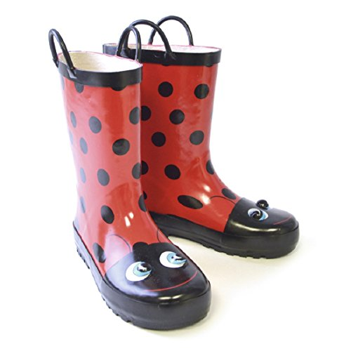 Kids 3D Ladybird Animal Wellies/Wellington Boots with Handles