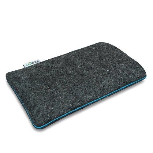 Stilbag Filztasche 'FINN' für Apple iPhone 5s - Farbe: anthrazit/orange anthrazit/azur