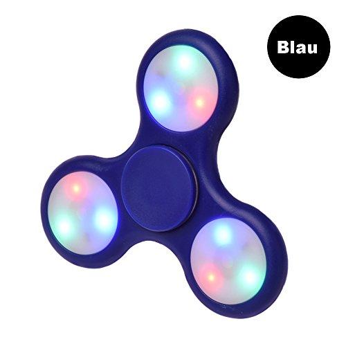 LEEHUR Fidget Spinner Fidget Toys Hand Spinner Finger Spielzeug für Kinder und Erwachsene Spielzeug Geschenke (LED-Blau s) (Drucken Spinner)