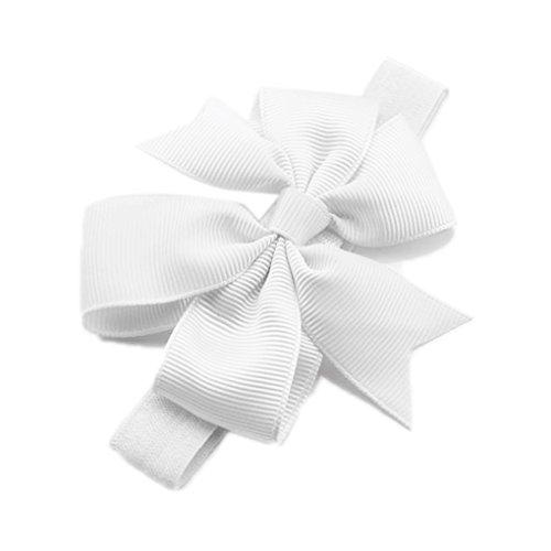 Große Blume Haarband Stirnband Trägerlos Kopftuch Fotografie Prop Für Baby Mädchen (Weiß) Kopftuch, Große