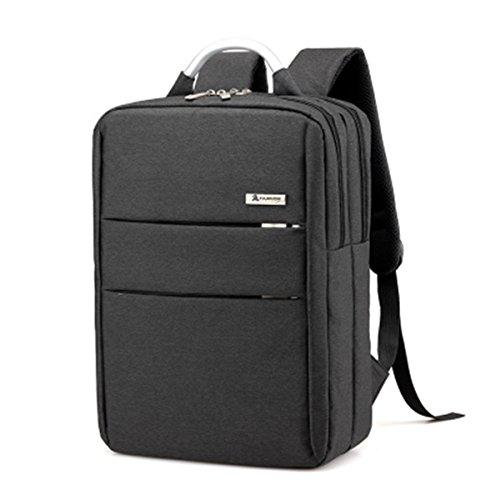 Preisvergleich Produktbild LaDicha Männer Frauen Wasserdicht Laptop Tasche Computer Reise Schule Rucksack Schultertaschen-Schwarz