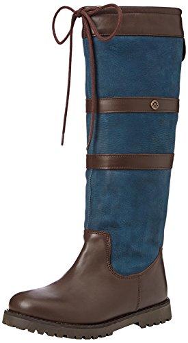 Mens Navy Blue Dog (Cabotswood  Gatcombe,  Damen Langschaft Stiefel, Blue (Oak/Navy), 36 EU (3.5 UK))