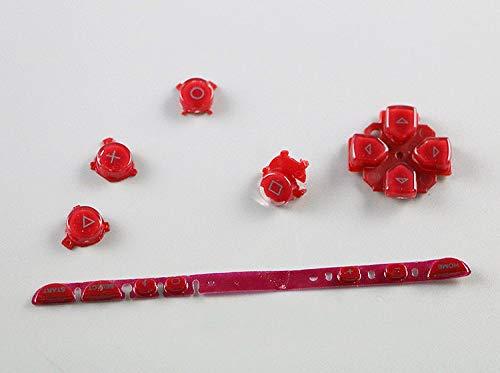 Links Rechts Tasten Schlüssel Pad Home Start Full Button Set Reparatur für Sony PSP 1000PSP1000Konsole Rot
