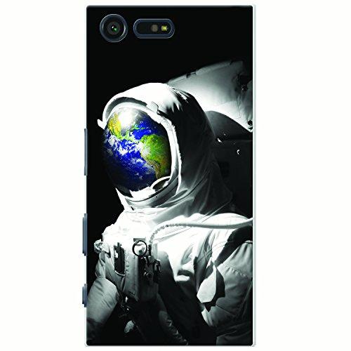 Astronautenanzug & Spiegelbild der Erde Hartschalenhülle Telefonhülle zum Aufstecken für Sony Xperia X Compact