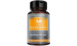 NUTRIVIVA NUTRISEREP 550 | 100 compresse da 550 mg | Serenoa Repens per il benessere della prostata e delle vie urinarie | Antiossidante naturale, alta concentrazione di acidi grassi