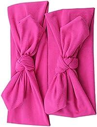 Republe 2pcs/set Rabbit Ears mamá vendas del bebé de Padres de Niños Bowknot Hairband turbante nudo Headwear elástico del pelo del abrigo