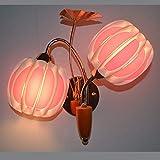 Reeseiy Lámpara de Pared Lámparas de Pared Minimalista Arte Moderno Dormitorio Cama matrimonial, Sala Lámparas de Pared Lámpara de Pared de Color Rosa Retro (Color : Colour, Size : Size)