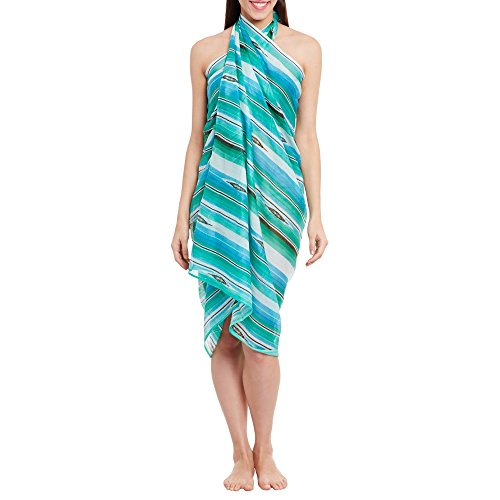 Womens Cotton Printed Voile Sarong Wrap Swimsuit Cover Up, Swimwear Cover Ups for Women