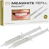 Plastimea Pro+ - MEAWHITE Refill Blanqueador Dental Profesional, Kit 2 jeringas, 0% Peroxido, Luce tu sonrisa y unos dientes blancos, 10ml