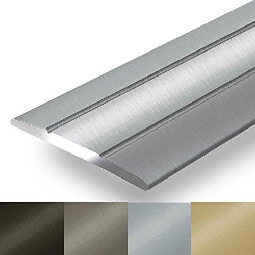 Alu Übergangsprofil Firm | C Form | selbstklebende Abdeckleiste für Fugen | Breite 36 mm | eloxiert Silber | 90 cm (Gold-metall-farbe)