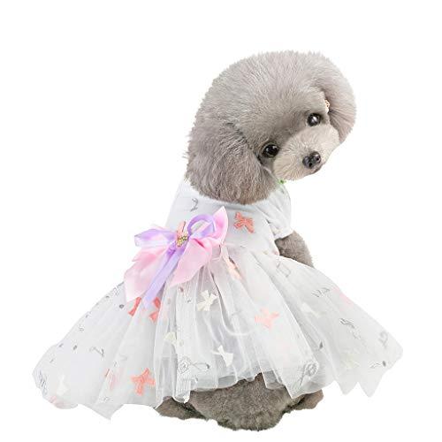 Hawkimin Haustier Hund Kleider, Bestickte Musik Symbol Drucken Tüllrock Krawatte Rock Bodenbildung für Kleine Hund Katze Hemd Tutu Kleid