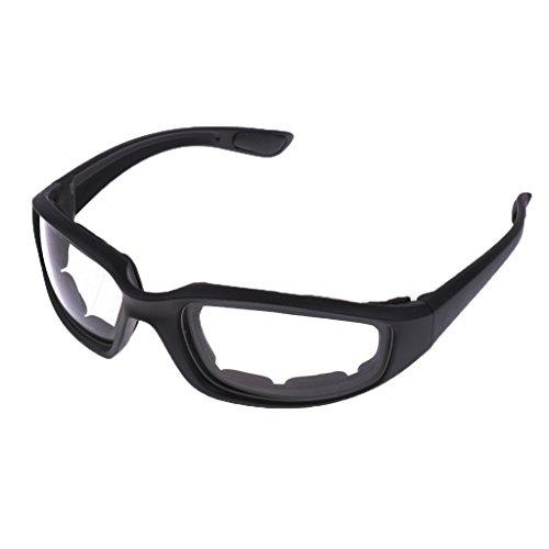 MagiDeal Winddicht Staubdicht Brille -Anti-Fog UV400-Gläser-Schwimmen-Schutzbrillen für Motorräder - klar (Dunkle Schwimmen-schutzbrillen)