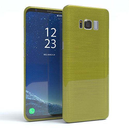 "EAZY CASE Handyhülle für Samsung Galaxy S8 Plus Hülle - Premium Handy Schutzhülle Slimcover ""Brushed"" Aluminium Design - TPU Silikon Backcover in brushed Lila Brushed Grün"