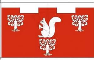 Königsbanner Autoflagge Emkendorf - 30 x 45cm - Flagge und Fahne