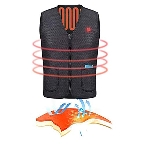 41B0LP6NHUL. SS500  - OUTANY USB Rechargeable Electric Body Warm Vest, Temperature Adjustable, Washable, Heated Clothing