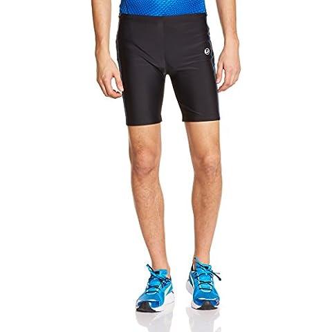 Ultrasport - Pantalones cortos de running para hombre con función de secado rápido, color negro / azul, talla L