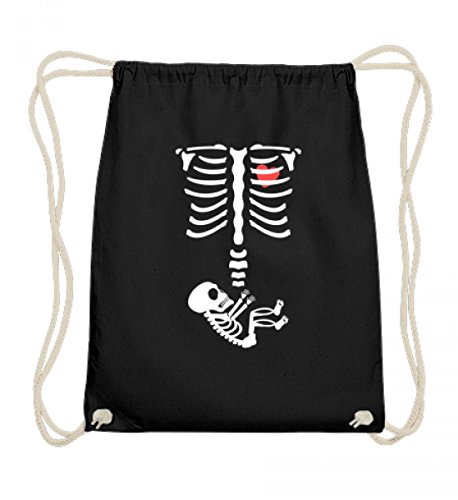 Lustiges Schwangerschaft Halloween Baby Mama Mütter Skelett Menschen Nachwuchs - Baumwoll ()