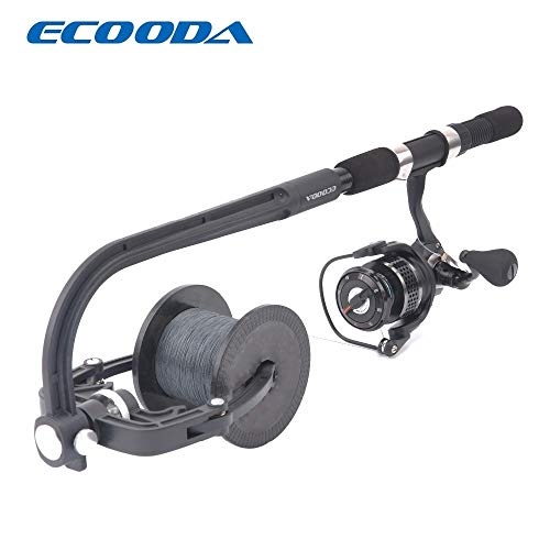 HAMISS ECOODA Fishing Line Spooler Winder Portable Reel Spool Spooling Station System for Spinning or Baitcasting Fishing Reel Line -