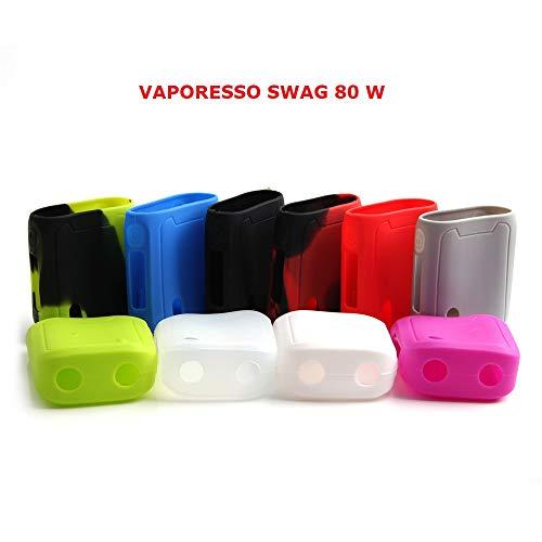 Skin Kit-grün (Schutzhülle für VAPORESSO SWAG 80 W Akkuträger Silikon Case Skin Cover (Schwarz/Grün))