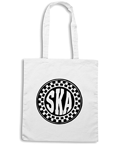 T-Shirtshock - Borsa Shopping OLDENG00239 ska circle Bianco