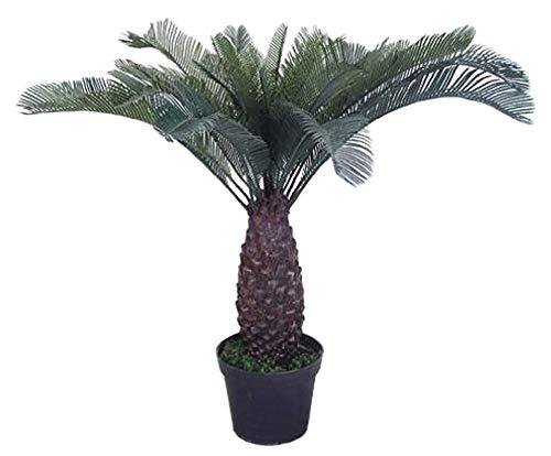 Decovego Palme Palmfarn Farnpalme Kunstpflanze Plastik Künstliche Pflanze 100cm