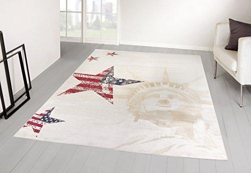 Taracarpet Designer Teppich USA Amerika Freiheitsstatue Lady Liberty Sterne (160x230 cm) (Lady Von Amerika)