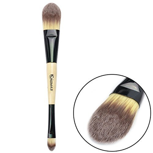 Makeup Brush, Professional Dual Ended Foundation Makeup Brush with Synthetic Bristles for Face Eyeliner Eyeshadow Power Liquid