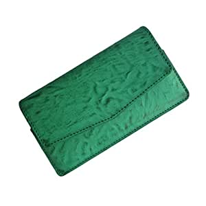 i-KitPit : PU Leather Pouch Case Cover For Karbonn A5i (GREEN)
