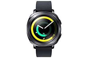 Samsung Gear Sport Smartwatch, Black, GPS, Impermeabile 5ATM, Lettore MP3 Integrato [Versione Italiana]