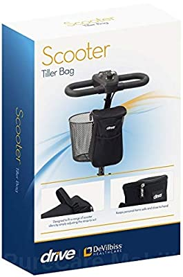 Drive Mobility Scooter Tiller Storage Security Bag Pouch Removable