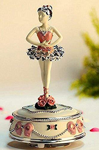 Sntsya Exquisites und anmutiges Geschenk Elegante drehende Ballerina-Spieluhr für Kreatives Geburtstags-Geschenk-Rosa - Vintage Ballerina Bilder