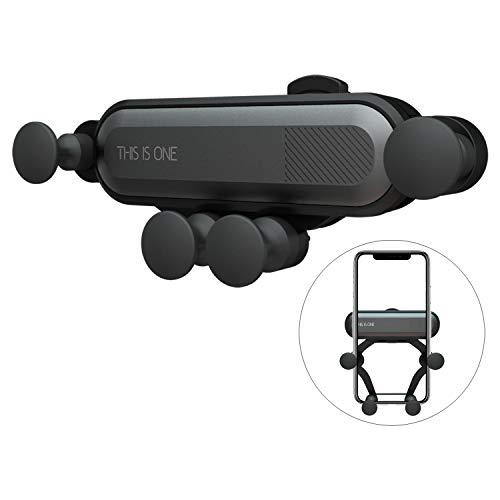 Universal Auto Handyhalterung, Wafly Mini 360 Grad Handyhalter Auto Vent Halterung mit Arm Schwerkraft Kfz Lüftung Halterung für iPhone X/XS/XR/XS Max/7 Plus/8,Samsung S9/S8,Huawei-Schwarz