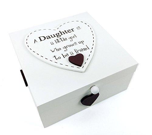 Figlia Regalo Memory Box Keepsake Trinkets una figlia è una bambina