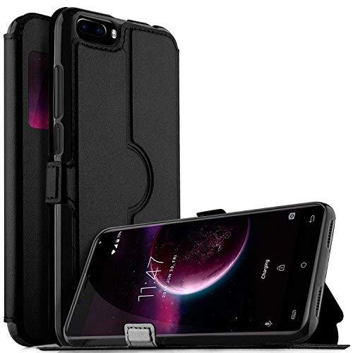 Leagoo S8 Hülle, iBetter Leagoo S8 Premium PU Leder Kasten für Leagoo S8 Smartphone (Schwarz)