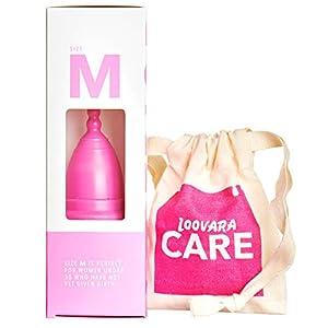 Loovara – Menstruationstasse (Größe M) | 100% Naturkautschuk, Made in Germany | vegan, silikonfrei, ohne Bleichmittel | Menocups machen Tampon und Damen-Binde überflüssig | Lebensdauer bis zu 10 Jahre