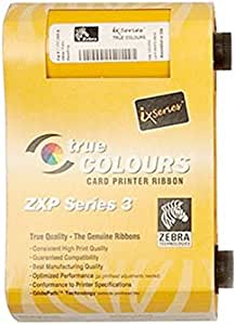 800033 840 Zxp 3 True Colors Ribbon For Zebra Zxp3 Id Card Printer Ymcko 200 Images Bürobedarf Schreibwaren