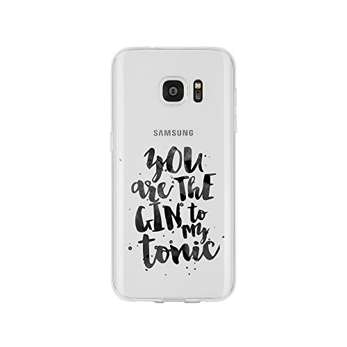licaso Samsung S7 Handyhülle Smartphone Samsung Case aus TPU mit You Are The Gin to My Tonic Love Print Motiv Slim Design Transparent Cover Schutz Hülle Protector Soft Aufdruck Lustig Funny Druck