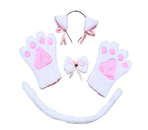 Katze, Tier Show / Darstellende Props / Ohr, Schwanz, Krawatte, Handschuhe (Beste Eltern Kind Kostüme)