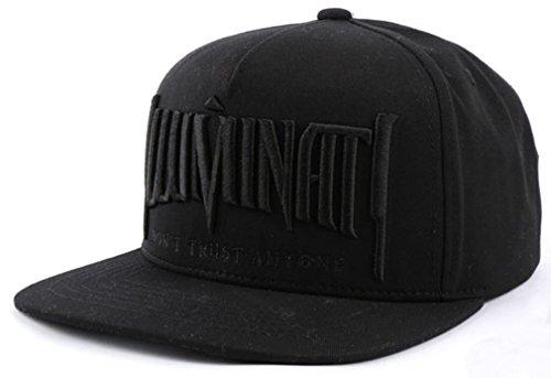 Preisvergleich Produktbild sujii ILLUMINATI Embroidery Baseball Kappe Baseball Cap Snapback Hat/All Black