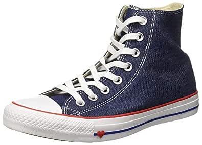 Converse Women's Textile Indigo/Enamel Red/Blue Sneakers-5 UK/India (37.5 EU) (8907788162512)