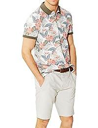 Hommes Threadbare Epping Hawaïen Chemise Polo Coton Piqué T-shirt Décontracté Haut Floral