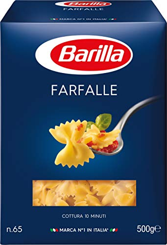 Barilla Hartweizen Pasta Farfalle n. 65 - 1er Pack (1x500g) -